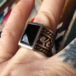 Rad Sterling Silver Black Onyx Ring
